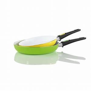 Bratmaxx Keramik Pfannen : bratmaxx keramikpfannen 2er set mit abnehmbaren griffen gr n gelb ~ Whattoseeinmadrid.com Haus und Dekorationen