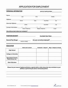 Resume For Job Application Format