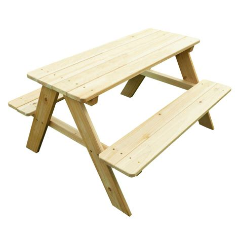 turtleplay wood picnic table  kids tb