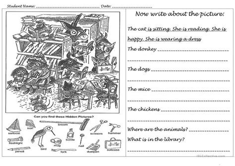 Animals In The Library Worksheet  Free Esl Printable Worksheets Made By Teachers