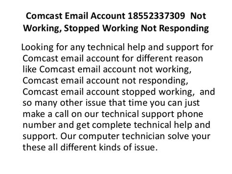comcast technical support phone number comcast email account 18552337309 not working stopped