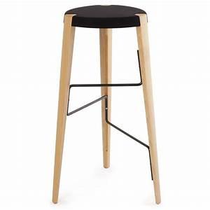 Tabouret De Bar En Bois : tabouret de bar design en bois tabouret sputnik par zilio ~ Teatrodelosmanantiales.com Idées de Décoration