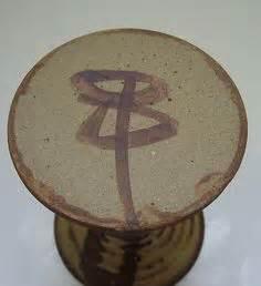 early karen ann wood studio pottery vase signed kw mark