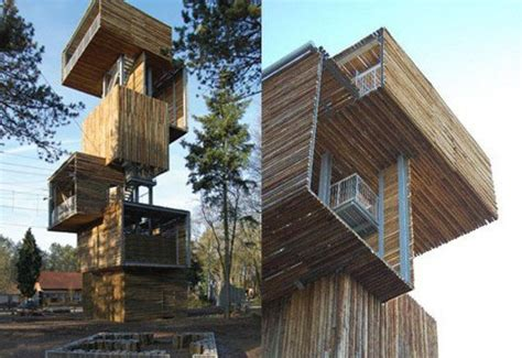 ateliereen architecten wooden observation tower inhabitat green design innovation