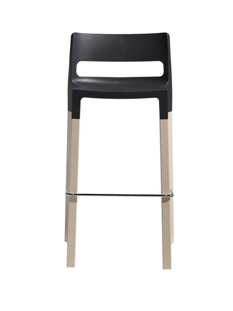 divo 2818 designer hocker aus holz und technopolymer sitzh 246 he 75 cm stapelbar