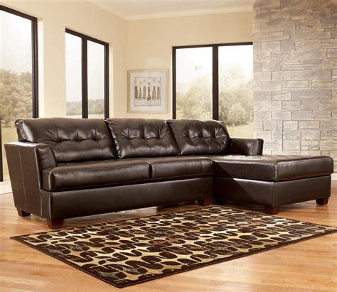 dixon durablend chocolate sectional sofa  signature