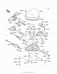 Kawasaki Jet Ski 1995 Oem Parts Diagram For Control Jh750