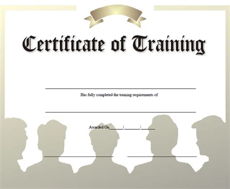 Traininb Certificate Template by 15 Training Certificate Templates Free Download Designyep