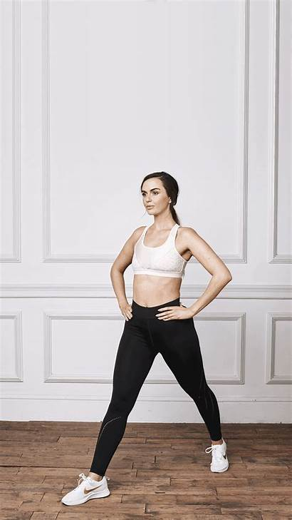 Jennifer Metcalfe Workout Lunge Swears