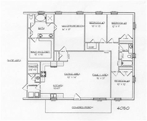 40x60 open floor plans rau builders barndominiums and metal buildings