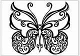 Butterfly Coloring Printable Fun Kupu Sketsa Gambar Spiral Butterflies Sheets Drawings Butter Tribal Flower Colorear Koleksi Different Water Getcolorings Coloringfolder sketch template