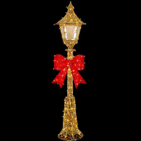 festive gold wire cm christmas lamp post decoration ebay