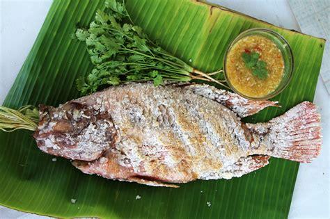 fish cuisine authentic grilled fish recipe pla pao ปลาเผา