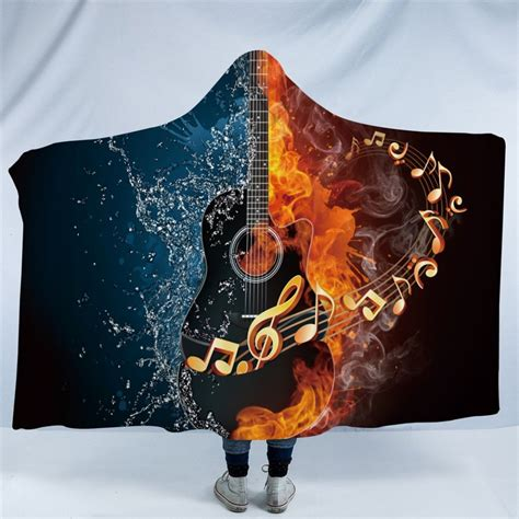 Free was not an experimental band by any means, but all of its elements were combined in the best way: Guitar Fire and Water Hooded Blanket | Hooded blanket ...