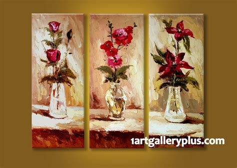 Red Floral Wall Art - Elitflat
