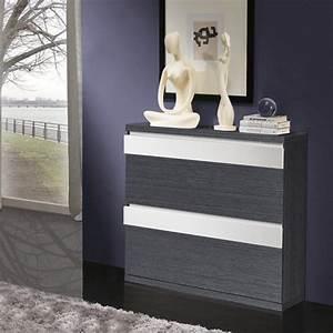 Petit Meuble A Chaussure : meuble chaussure gris et blanc ~ Teatrodelosmanantiales.com Idées de Décoration
