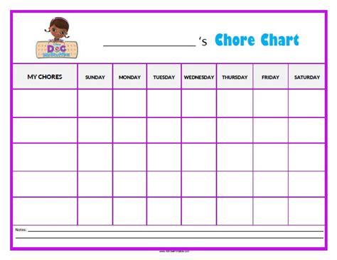 mcstuffins chore chart  printable allfreeprintablecom