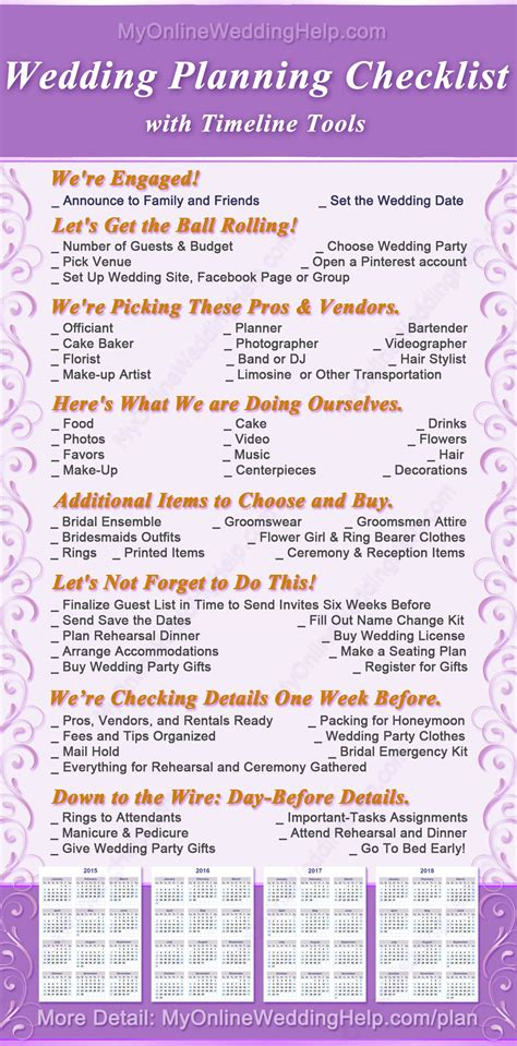the ultimate wedding planning checklist how to plan and