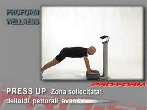 Esercizi Con La Pedana Vibrante by Pro Form Wellness Pedana Vibrante