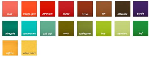 Palette Spice It Orange Russet Coral by Autumn The Different Types