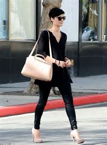 Jaimie Alexander shows off a new pixie cut while out