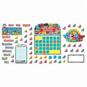blockstars calendar bulletin board set t 8381 trend With bulletin board calendar template