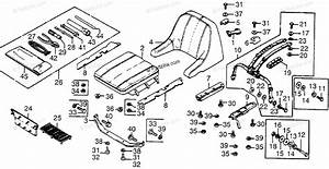 Honda Atv 1979 Oem Parts Diagram For Floor Mat    Seat
