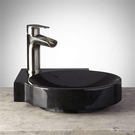 black granite vessel bathroom sinks corner polished black granite vessel sink vessel sinks
