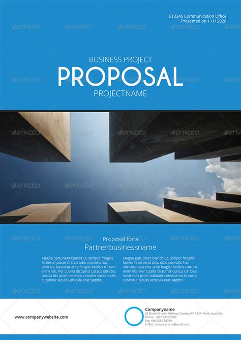 gstudio blue proposal template  terusawa graphicriver