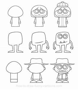 Simple Drawings of Cartoon Characters images