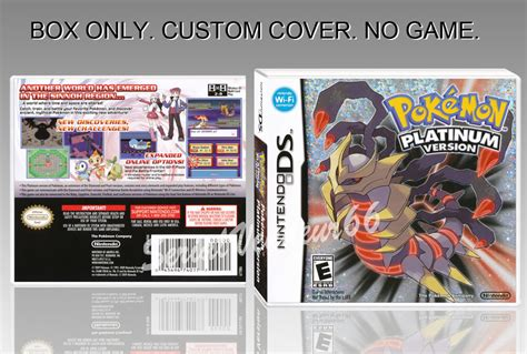 nintendo ds pokemon platinum version english cover