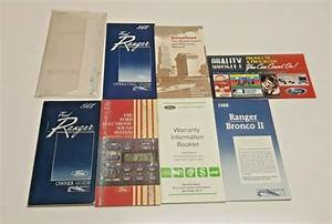 1988 Ford Ranger Owners Manual Guide S Gt Stx Std Xlt 2 0l