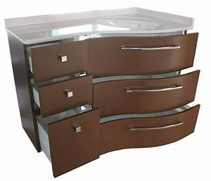 un meuble d39angle couleur chocolat atlantic bain With salle de bain couleur chocolat