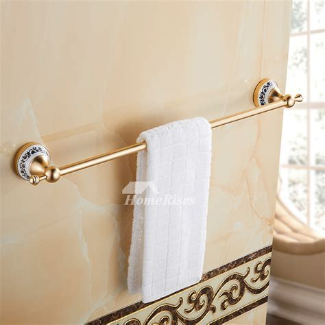 Luxury Carved Gold Bathroom Accessories Sets Aluminum