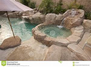 tropical custom pool jacuzzi stock photo image of With whirlpool garten mit balkon selber bauen bausatz