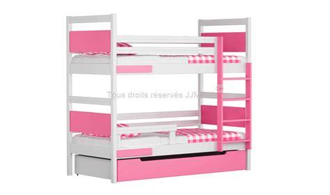 lit superpos enfants duo blanc avec 2 matelas inclus