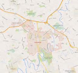 Pennsylvania Map Lancaster PA