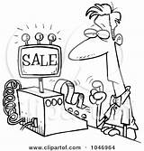 Cashier Clipart Clip Clerk Leishman Ron Rf Cartoon Illustration Female sketch template