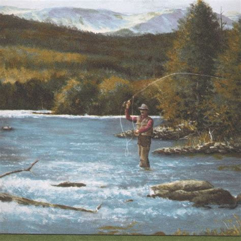 gqb fly fishing border discount wallcovering