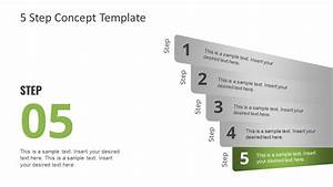 Free 5 Step Concept Design For Powerpoint