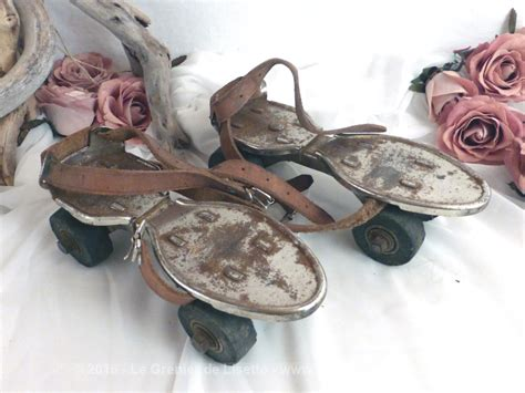 anciens patins à roulettes le grenier de lisette
