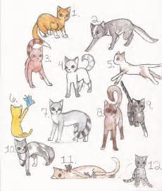 warrior cat drawings warrior cat adoptables by lunabell46 on deviantart