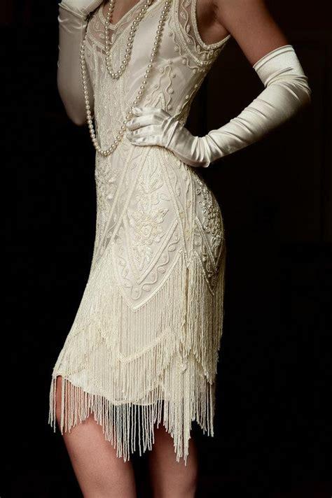 the great gatsby wedding dress ivory beaded vintage flapper 1920 39 s wedding dress the