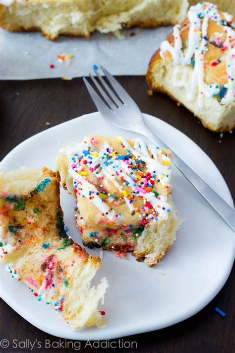 cake batter cinnamon rolls sallys baking addiction