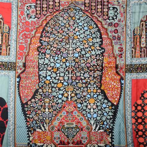 hermes silk twill tapis persans giant plume scarf 140 aqua