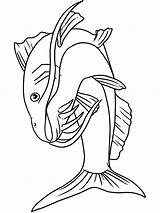 Catfish Coloring Pages Fish Printable Bluegill Minecraft Print Getcolorings sketch template