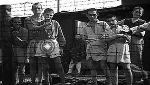 Starved Victims Of The Buchenwald Concentration Camp In