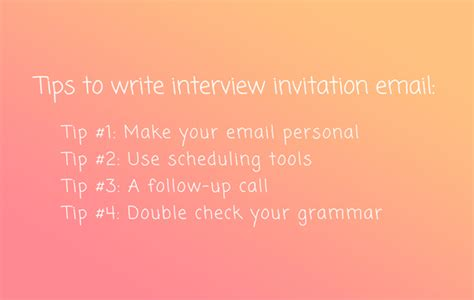write   interview invitation email