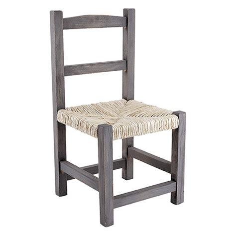 chaise en bois et paille chaise enfant 3 ans en bois gris et assise en paille de