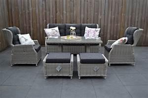 Sofa 3 Sitzer Mit Hocker : valencia verstellbare lounge 3 sitzer sofa light kobo grey mit esstisch und hocker 3 garten ~ Bigdaddyawards.com Haus und Dekorationen